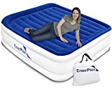 EnerPlex Luxury Queen Air Mattress with Built-in Pump Pillow Top Airbed Queen Size Raised Double High Elevated Blow Up Mattress Inflatable Bed for Home Camping Travel, 2-Year Warranty