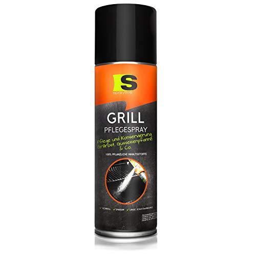Spraytive 1 x 500ml Grill-Pflegespray - BBQ Grill-Reiniger - Pflegt & Konserviert Grillroste, Pfannen (Edelstahl, Gusseisen) & Co. - Antihaftspray, Non Stick Spray für Weber Grills, Plancha Grills