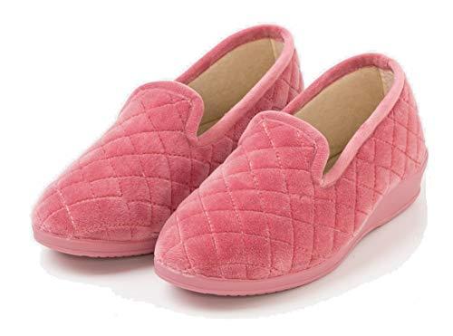 TEX - Zapatillas de Casa para Mujer, Cerradas, Acolchadas, Rosa, 40
