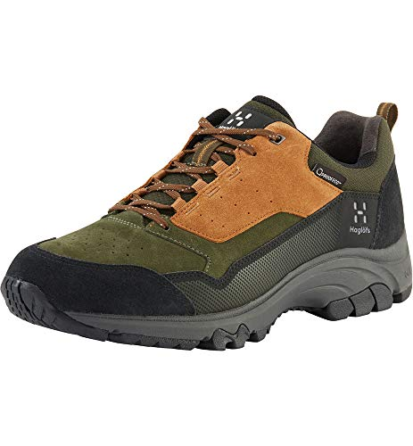 Haglöfs Wanderschuhe Herren Skuta Low Proof Eco wasserdicht, dämpfend, Abriebfest Oak/Deep Woods 10 44 2/3