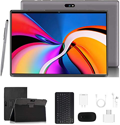 Tablet 10 Pollici con Wifi Offerte Tablet PC Android 9.0 GO, Google Certificazione GMS , 3GB RAM 32 128GO ROM , 4G LTE Call ,8MP Con Tastiera Quad-Core Supporta Netflix  APK, WiFi  Bluetooth  GPS OTG