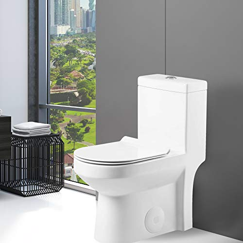 Fine Fixtures Dual-Flush Round One-Piece Toilet 10