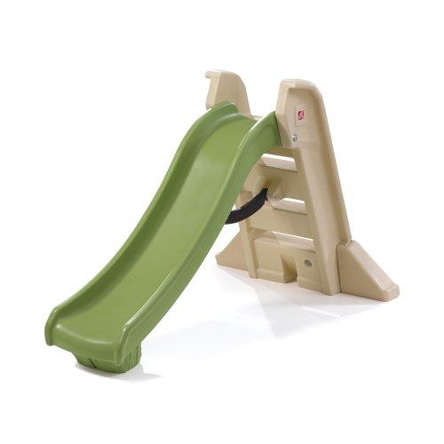 Step2 844600 Naturally Playful Big Folding Slide Kids, Multi-Color, 5-7 ft