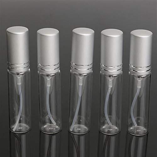 QuRRong Vaporisateur Verre Vaporiser Atomiseur Clair Voyage Beaux Mist Bouteille Transparent Parfum Vide pour Le Nettoyage de la Cuisine (Color : White, Size : 5Pcs)