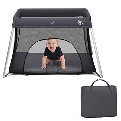 BABY JOY Baby Foldable Travel Crib