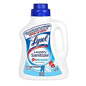 Lysol Laundry Sanitizer Additive Crisp Linen 90oz Packaging May Vary