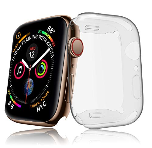 innoGadgets Hülle kompatibel mit Watch Series 4 Hülle [44mm] - Schutzhülle aus Silikon – Stoßfest und 100% transparent   Displayschutz Case Cover – Ultra dünn   Kristallklar