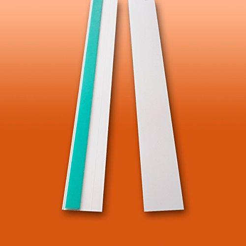 Fensterleiste Flachprofil PVC selbstklebend 20mm breit 10m lang Abdeckleiste