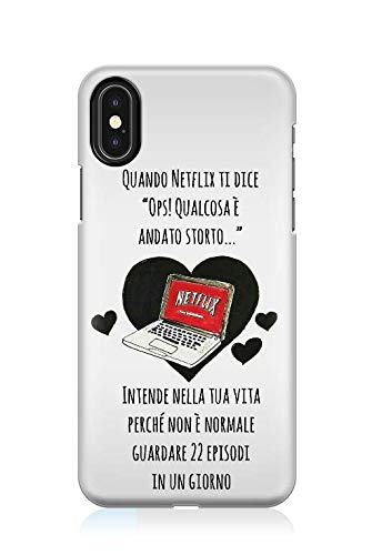 Candyshop Cover Netflix Disponibile per Tutti i Modelli di iPhone - Serie Televisiva, Serie TV, Cinema, Vita Sociale, Computer, Streaming, Film, Video (iPhone X/XS)