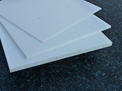 Platte aus PTFE, weiß, 1200 x 50 x 3 mm (Teflon) Zuschnitt PTFE Dichtung