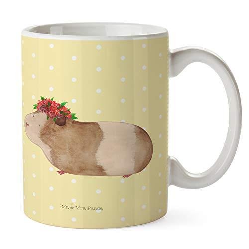 Mr. & Mrs. Panda Becher, Tee, Tasse Meerschweinchen weise - Farbe Gelb Pastell
