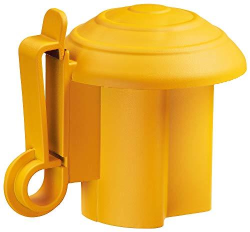 AKO 10x T-Pfosten Kopfisolator gelb, für Band, Seil und Litze - Komplette Höhe des Pfostens ist nutzbar - Schützt die Tiere vor Verletzungen