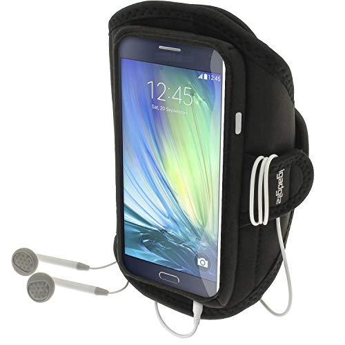 igadgitz Wasserabweisend Schwarz Sports Jogging Armband Laufen Fitness Oberarmtasche für Samsung Galaxy A3 SM-A300