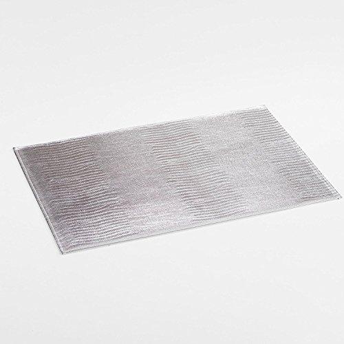 décorline set de table 30x45cm pvc bao argent