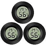 Thlevel Mini Digital LCD Thermomètre Hygromètre Température Humidité -50~70 ℃ 10% ~ 99% RH (3 PCS - B)