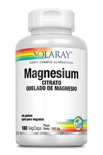 Solaray Magnesium Citrate 133mg | Magnesio | 180 VegCaps