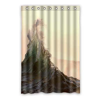 dalliy Custom Ocean Wave Duschvorhang Polyester 120cm x 183cm, Polyester, D, 48