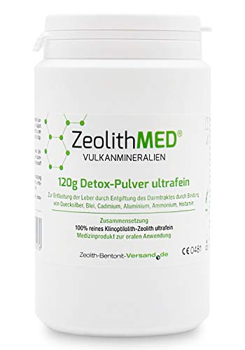 Zeolith MED Detox-Pulver ultrafein 120g, CE zertifiziertes Medizinprodukt
