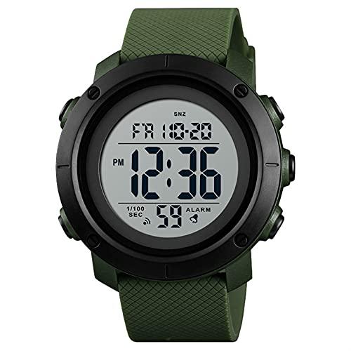 Reloj deportivo digital para hombre Cronómetro de cronómetro Alarma impermeable LED de retroiluminación Reloj del ejército Militares Electrón al aire libre Relojes de pulsera para hombres Tiempo dual