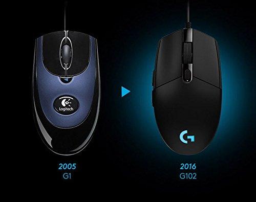 『Logitech G102 IC PRODIGY ゲーミングマウス オプティカル 6,000DPI, 16.8M Color LED Customizing, 6 Buttons -Bulk Package- [並行輸入品]』の2枚目の画像