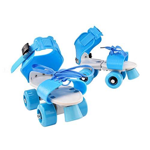 FADDARE Kinder Rollschuhe, verstellbar, rutschfeste Allrad-Skateschuhe, direkt mit den Schuhen verbunden für Mädchen Jungen und Menschen jeden Alters