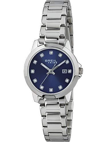 Breil Orologio Donna Classic Elegance quadrante Mono-Colore Blu Movimento Solo Tempo - 3H Quarzo e Bracciale Acciaio EW0409