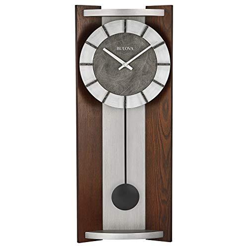 relojes de pared en madera con pendulo fabricante Bulova
