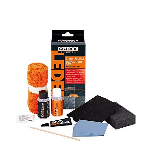 QUIXX 20752 Leder und Vinyl Reparatur-Set | Beschädigungen an Autositz und Lenkrad reparieren | Leder Reparaturset | Vinyl Reparaturset | All-Inklusive-Set
