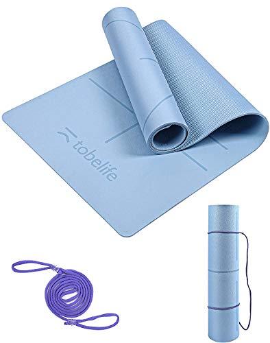 Tobelife Yoga Mat, Pro Thick Yoga mat For Viniyoga Eco Friendly Non Slip Yoga Mat, Body Alignment System, Workout mat...