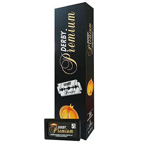 DERBY TOKAI black premium 100 doppelschneidige rasierklingen, 163 g