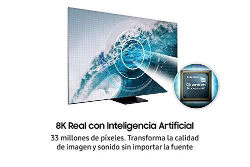 Samsung QLED 8K 2020 75Q950T Smart-TV, 75 Zoll (178 cm), 8K Real-Auflösung, Direct Full Array Elite HDR 4000, 8K Intelligenz, Ultra Viewing Angle, OTS+, Premium One Remote und Sprachassistent