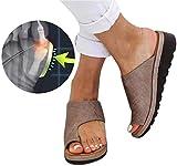 MTHDD D'été Nouvelles Femmes Orthopedique Plate-Forme Sandales Peep Toe Espadrilles Comfy Voyage Chaussures de Sandale de Soutien D'hallux Valgus de Gros Orteil pour Le Traitement,R2,39
