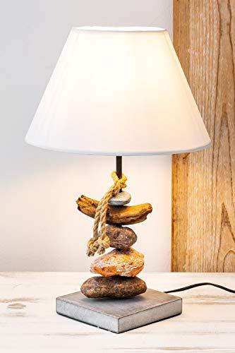 mare-me Tischlampe mit Steinen