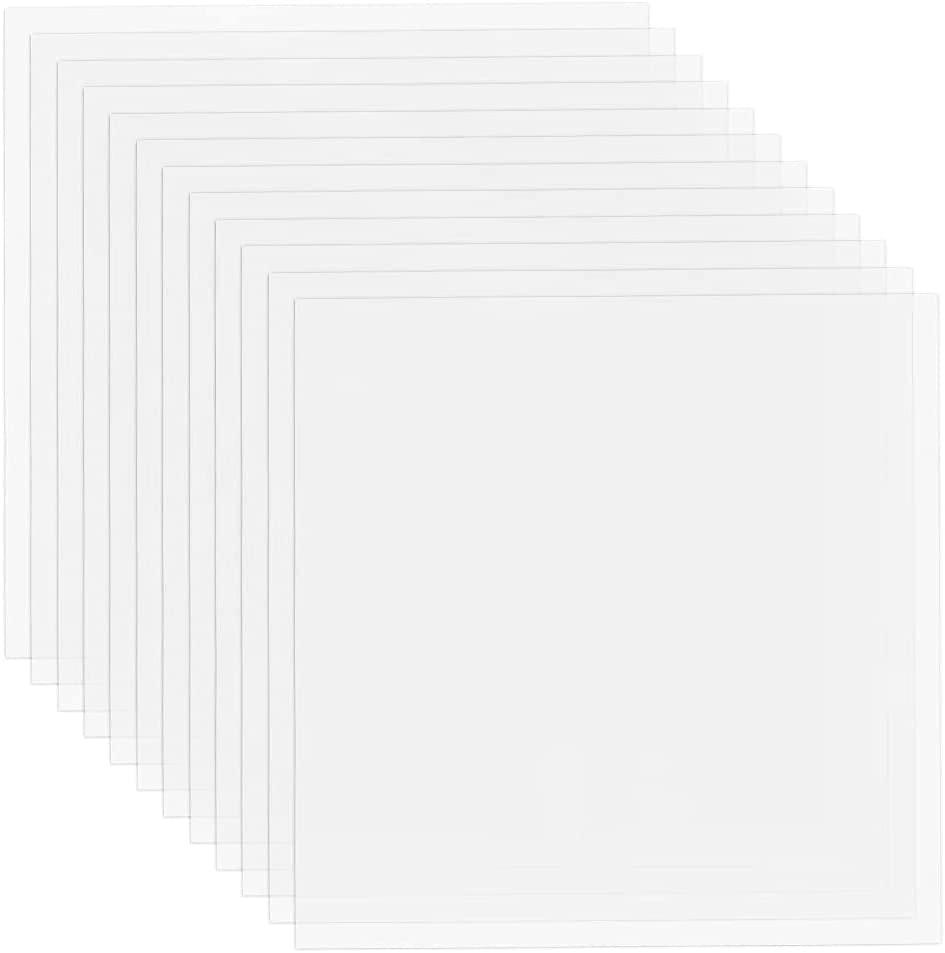 24 Pack 4 Mil Clear Mylar Stencil Sheets, 12