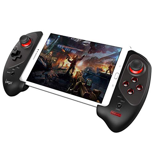 Mutop Wireless Joystick Gamepad with 5-10 Inch Telescopic Holder for Mobile Phone/Tablet/Android/iOS/Android TV Box - IPEGA PG-9083S