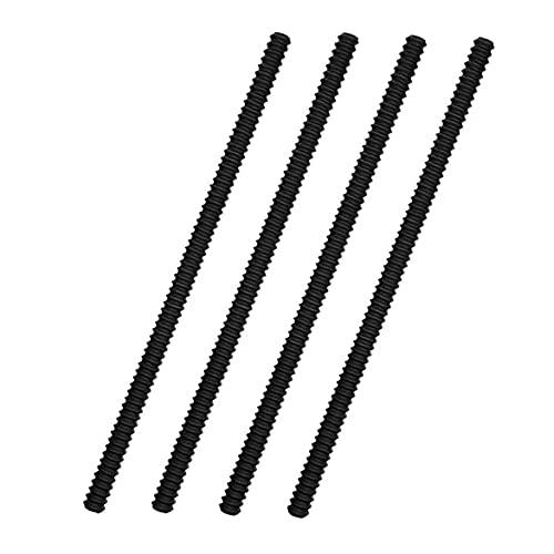 sevenjuly Horno de Carro Escudos Horno de Carro Borde de Silicona Anti-escaldado Protector a Prueba de Calor Horno Forma de Rosca en Rack Guardia 4PCS Negro, Artículos para el hogar
