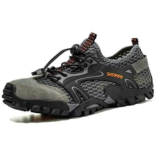 Aerlan Men's and Women's Sports Shoes,Calzado de rastreo, Hombre, al Aire Libre, al Aire Libre, Rock, Zapatos para Correr, Senderismo de Verano-Gray_50,Calzado para Correr por Carretera