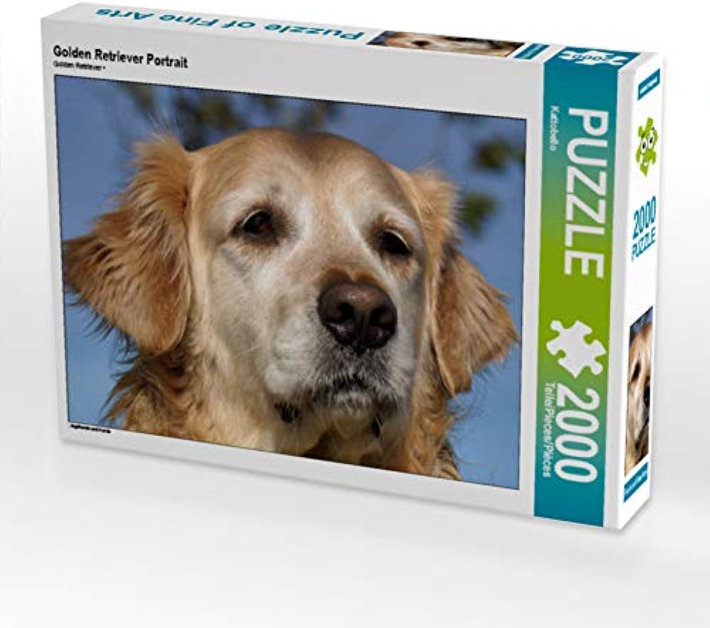 CALVENDO Puzzle Golden Retriever Portrait 2000 Teile Lege-Größe 90 x 67 cm Foto-Puzzle Bild von Kattobello B07JN4BJZ8 Haltbarkeit | Attraktive Mode