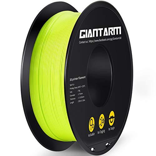 GIANTARM - Filamento PLA para impresora 3D, 1,75 mm, 1 kg, color verde manzana…