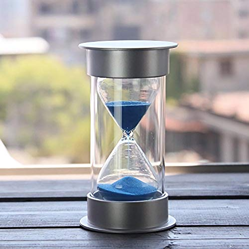 60 Minutes Hourglass,Siveit Modern Sand Timer with Blue Sand for...