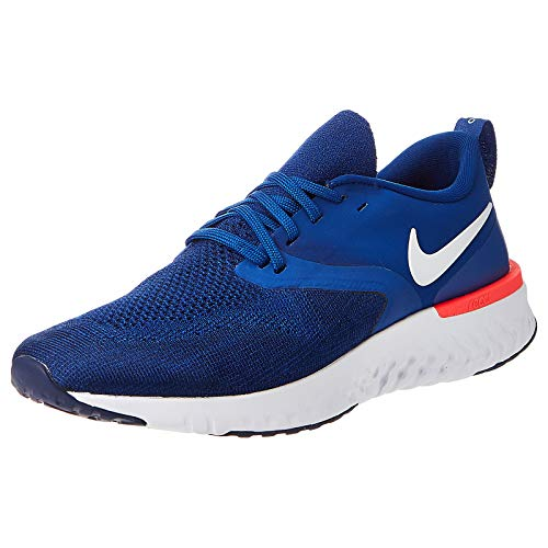 Nike Men's Odyssey React 2 Flyknit Running Shoe (10, Blue-Navy Blue)