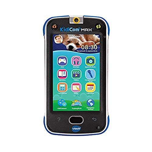 VTech – KidiCom Max Bleu – Smartphone pour enfant évolutif, ultra résistant, sécurisé, avec appareil photo intégré – Version FR