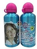 ML Una Botella de Agua de Aluminio, cantimplora térmica a Prueba de Fugas sin BPA para Levar a la Escuela y Deportes el Termo 500ml para niños y niñas (Azul)