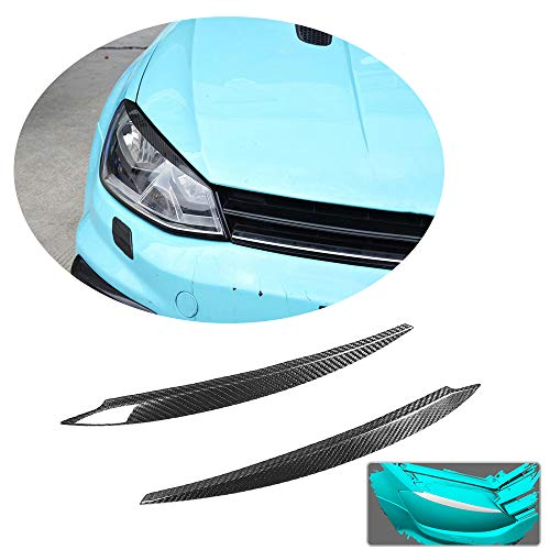 MCARCAR KIT Front Headlight Eyebrows fit Volkswagen VW Golf 7 7.5 MK7 Base/R Line/GTI/R 3Door 5Door Hatchback 2014-2019 Factory Outlet Real Carbon Fiber CF Head Lamps Eyelid Light Cover Trims