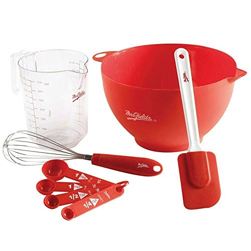 Mixing Bowl Baking Set Measuring Spoons & Cup Whisk Spatula, 8 Pc.