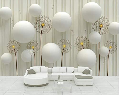 Apoart Papel Pintado Foto Diente De León Moda Moderna Sofá Simple Sala De Estar Contexto Mural 3D Papel De Parede350Cmx245Cm