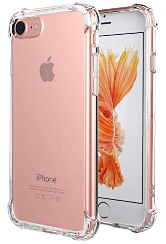 Matone for iPhone SE 2020 Case, for iPhone 7 Case, for iPhone 8 Case, Crystal Clear Shock Absorption Technology Bumper Soft TPU Cover Case for iPhone SE(2nd Generation)/iPhone 7/iPhone 8 - Clear
