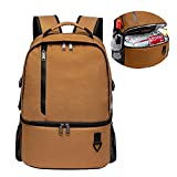 TUGUAN Insulated Cooler Backpack Double Deck Leakproof Lightweight Soft Lunch Backpack Small Cooler Bag Beach Picnics 16 Cans