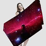 Hermosa toalla de playa, Horsehead Nebula Barnard 33, una de las toallas de viaje de microfibra ligeras de secado rápido para camping, deportes, natación, baño.150 x 75 cm