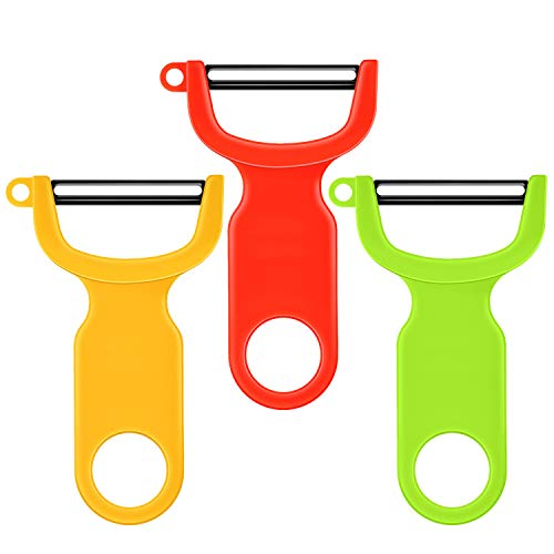 Kuhn Rikoma Original Swiss Peeler 3-Pack Red/Green/Yellow